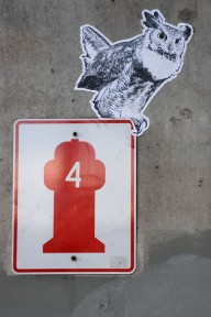 Owl Paste West Seattle Bridge