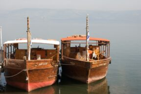 Pilgrimage Boats in the Sea of Galilee