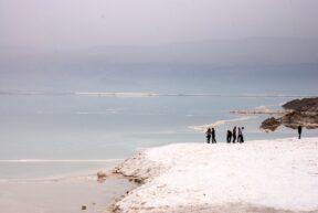 Dead Sea Salt Evaporation Pools