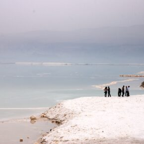 Dead Sea Salt Evaporation Pools