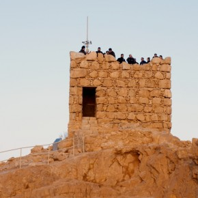 Waiting for Sunrise at Masada
