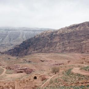 Snow Petra Jordan Palace Tomb