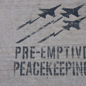 Stencil on Sidewalk