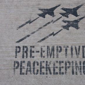 Stencil on Sidewalk