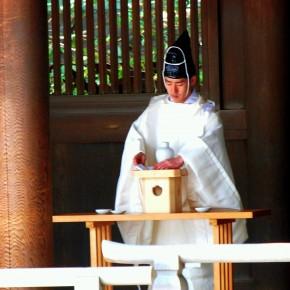 Priest at Meiji Jingu Shrine