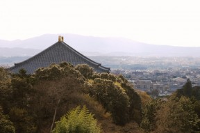 Daibutsu-den and Nara from Sangatsu-do