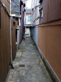 Our house was in a little alley