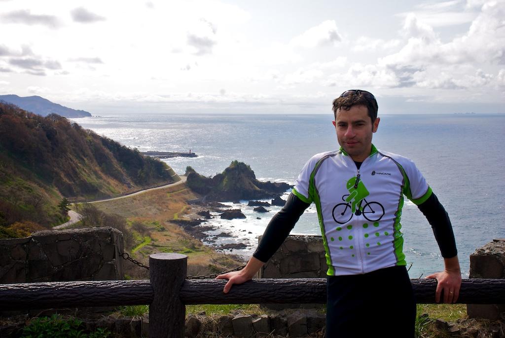 Victor Chudnovsky Bicycling Noto Peninsula