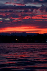 Setting Sun in Seattle