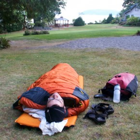 Bicyclists have the best camp!