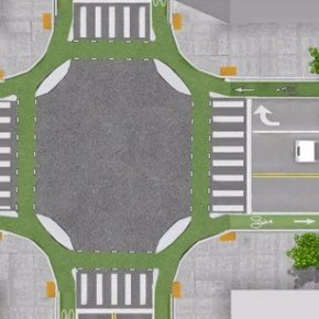 Dutch Bicycle Intersections and Some Paint
