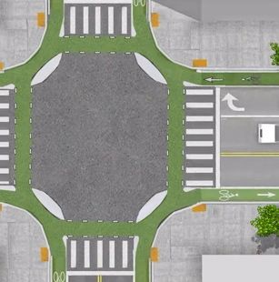 Dutch Bicycle Intersection