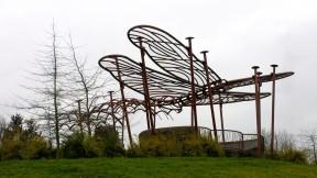 Dragonfly Pavilion sculpture