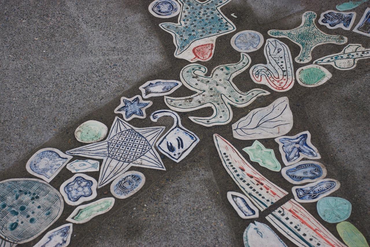 Sidewalk art at Golden Gardens