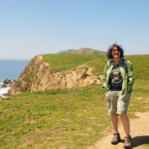 Pam at Chimney Rock, Pt. Reyes
