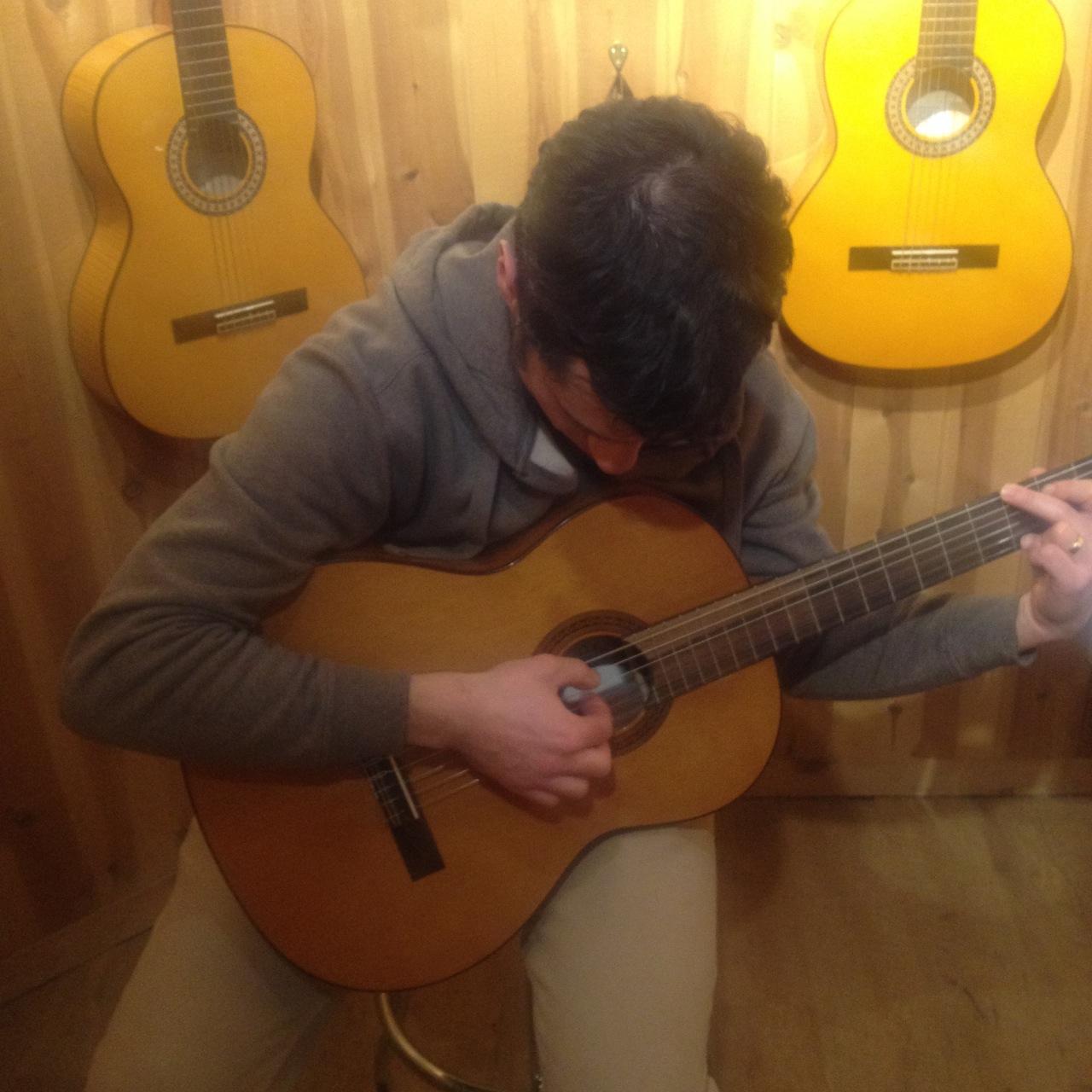 Vic's Birthday Guitar in Fresno