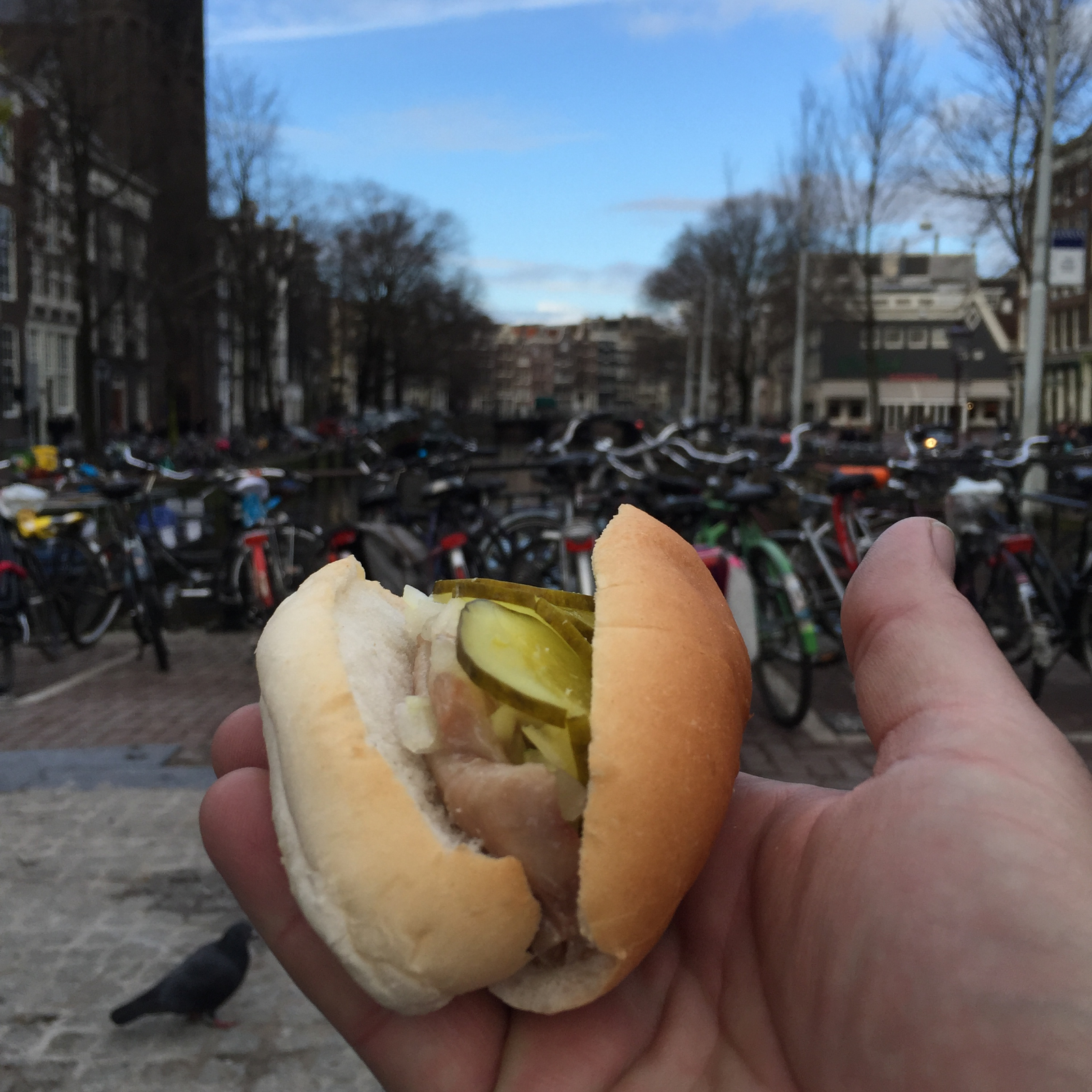 Herring sandwich before even getting to apartment!