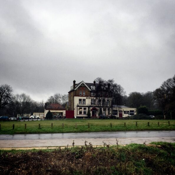 This is an old pub in the middle of the Epping Forest that was there when Clare was here. There is a snack shack next to it, where old men sat and made small talk with mountain bikers and trail runners in lycra.