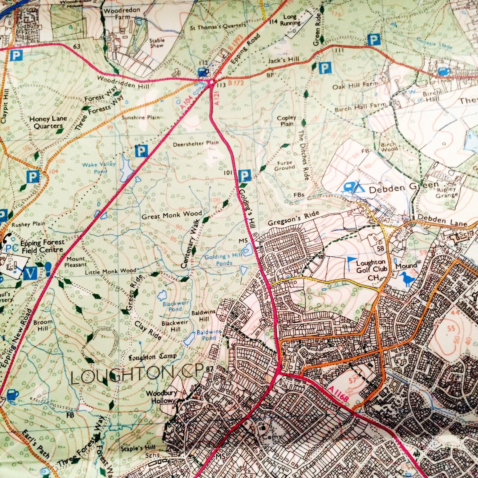 UK Walking Map