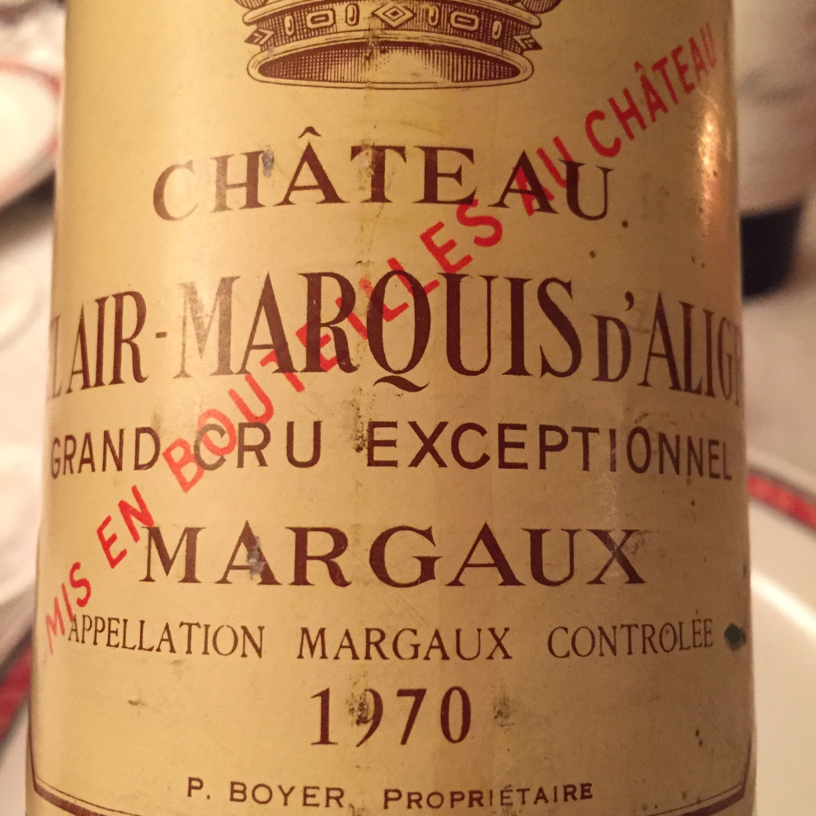 Wow! Wine from the year I was born. That's quite a welcome.