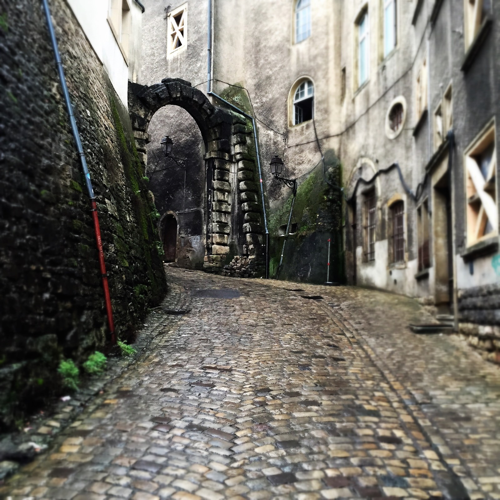 Luxembourg_City with Street Arch