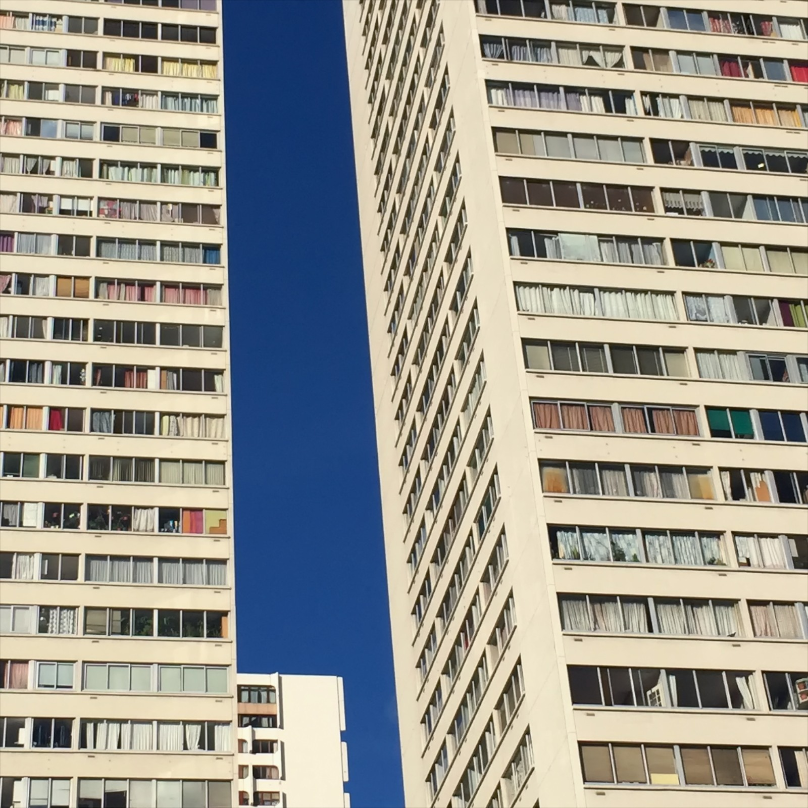 Out in the edge of the 13th arrondissement, the glamour of the center is replaced with towers.