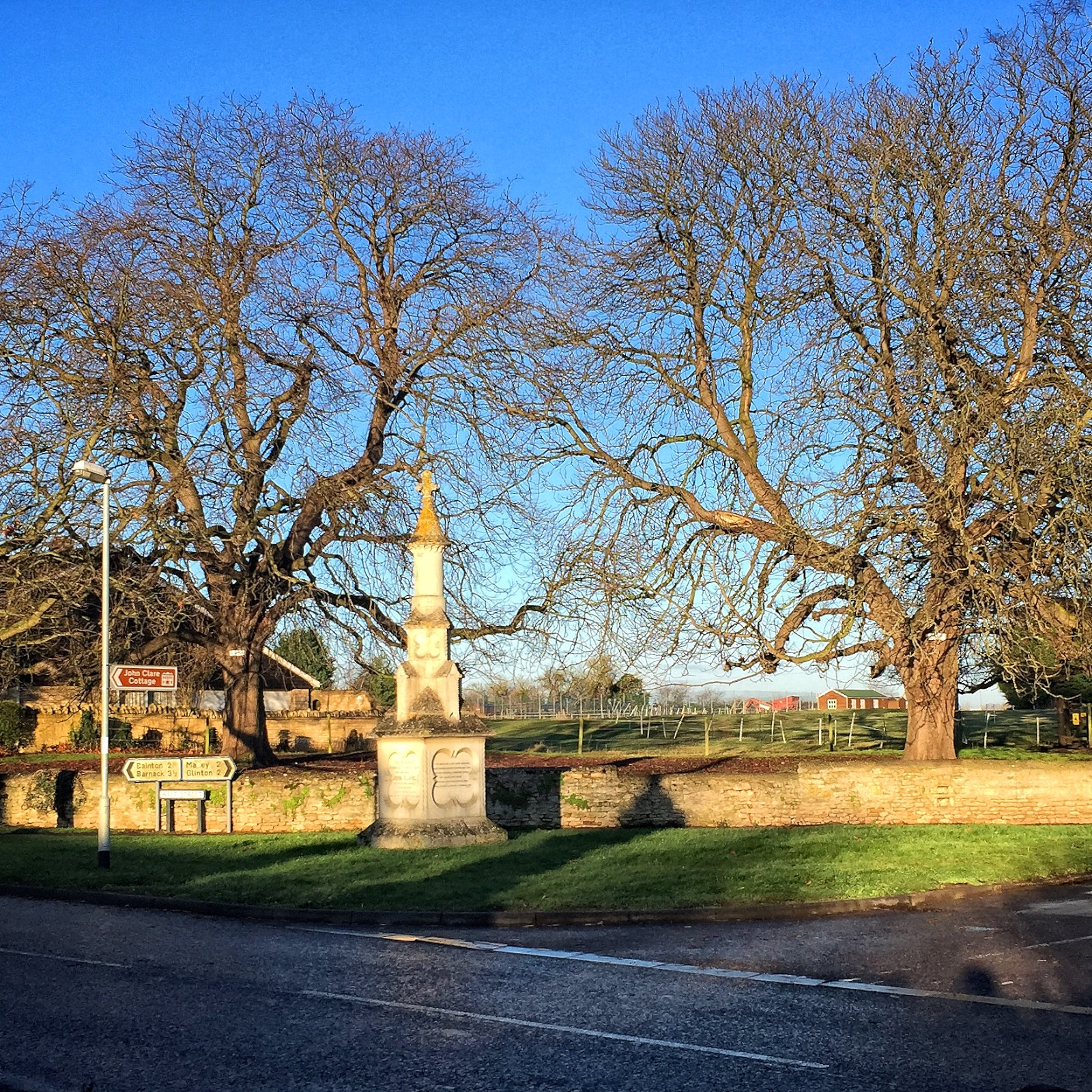 The Clare Memorial in Helpston.