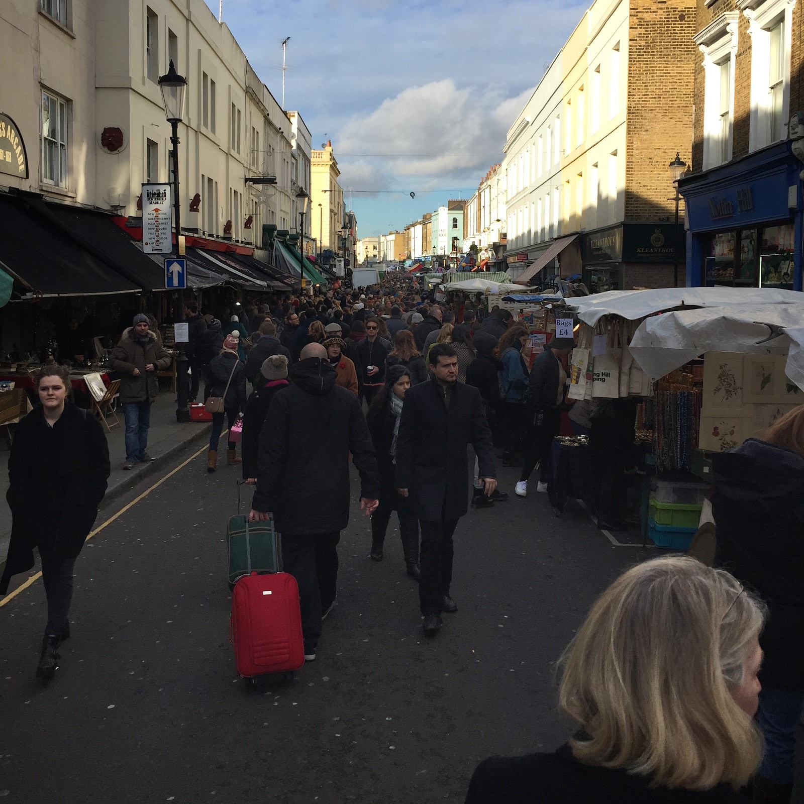 I can't even imagine how crowded the Portobello Market must be in the summer. I would had living near this.