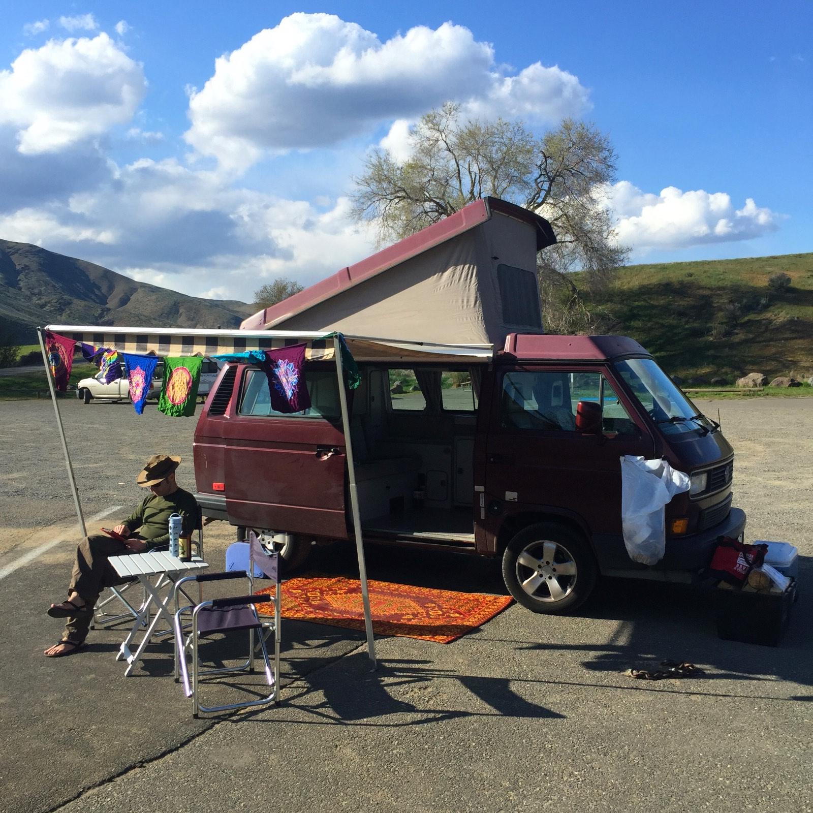 Camping at Lmuma Creek Yakima Canyon